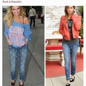 Rock & Republic Hamburg star jeans straight leg